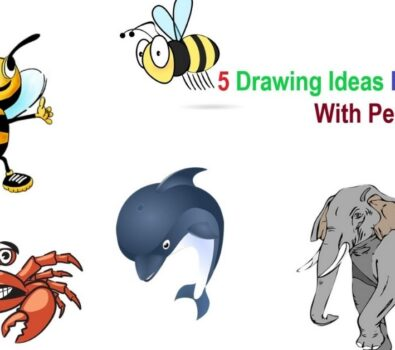 5 Easy Cool Drawing Ideas For Activities With Pencil